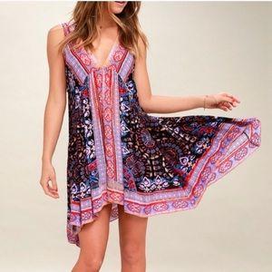 Free People In Dreams Trapeze Boho Slip Dress xs